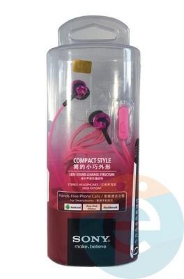 Наушники Sony MDR-EX110AP розовые - фото 16107