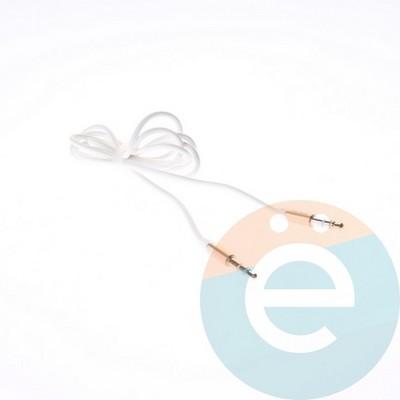 AUX кабель Remax папа-папа 1м белый - фото 5398