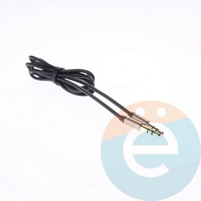 AUX кабель Remax папа-папа 1м чёрный - фото 5400