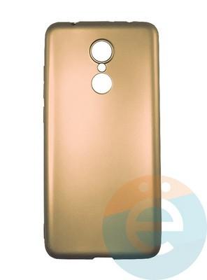 Накладка силиконовая j-Case на Xiаomi Redmi 5 золотистая - фото 16430