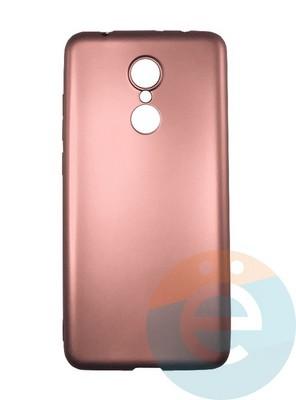 Накладка силиконовая j-Case на Xiаomi Redmi 5 розово-золотистая - фото 16432