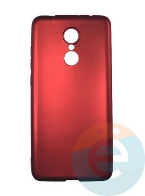 Накладка силиконовая j-Case на Xiаomi Redmi 5 красная - фото 16434