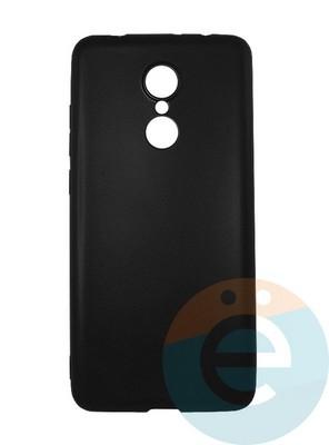 Накладка силиконовая j-Case на Xiаomi Redmi 5 чёрная - фото 16436