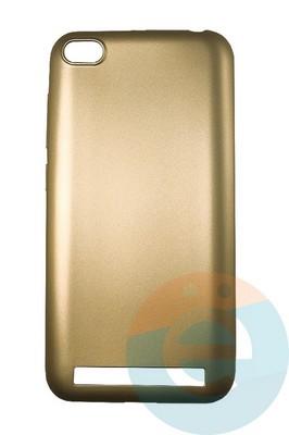 Накладка силиконовая j-Case на Xiаomi Redmi 5A золотистая - фото 16438