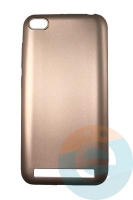 Накладка силиконовая j-Case на Xiаomi Redmi 5A розово-золотистая - фото 16441