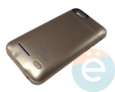 Накладной аккумулятор 3000 mAh на Apple iPhone 7/8 золотистый - фото 16635