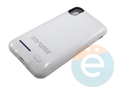 Накладной аккумулятор 4000 mAh на Apple iPhone X белый - фото 16649