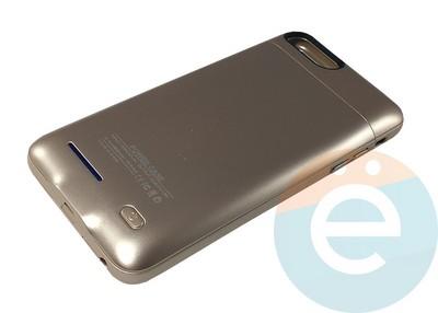 Накладной аккумулятор 4200 mAh на Apple iPhone 7 Plus/8 Plus золотистый - фото 16653