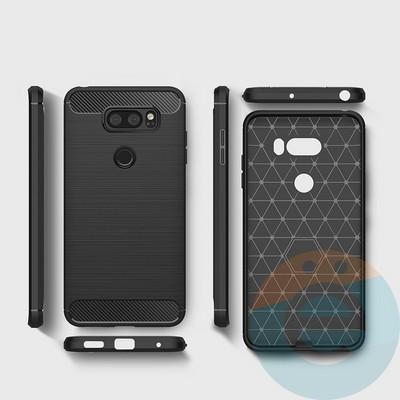 Накладка силиконовая Carbon 360 на Xiaomi Redmi 5 чёрная - фото 17234