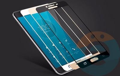 Защитное стекло 2D полноэкранное (с закруглёнными краями) на Samsung Galaxy S6 Edge белое - фото 23811