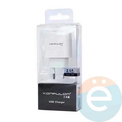 СЗУ Konfulon C18 2.1A на 2 USB - фото 17798