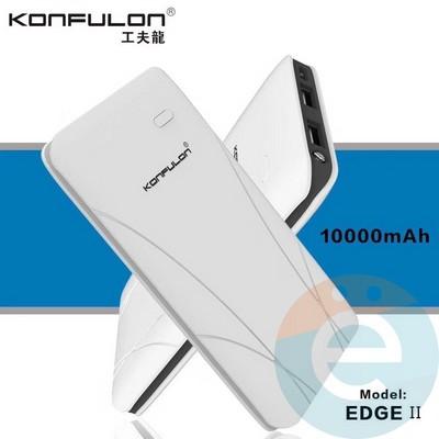 Внешний аккумулятор Konfulon Edge 10000 mAh белый - фото 17804