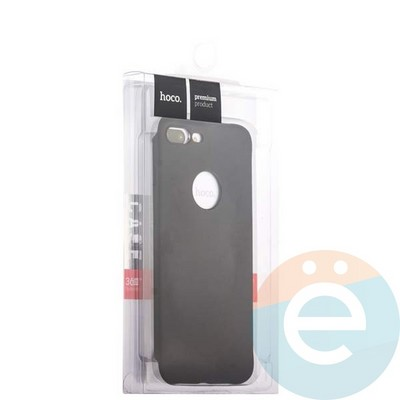 Накладка силиконовая Hoco на Apple iPhone 7 Plus/8 Plus чёрная - фото 18872