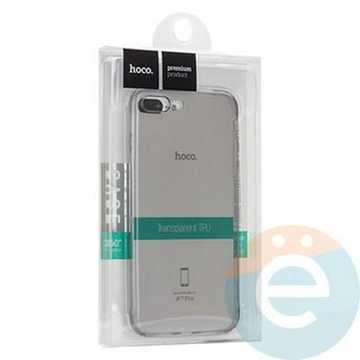 Накладка силиконовая Hoco на Apple iPhone 7 Plus/8 Plus тёмно-прозрачная - фото 18874