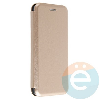 Чехол книжка боковой Fashion Case для Samsung Galaxy A8 2018 золотистый - фото 20112