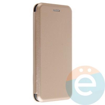 Чехол книжка боковой Fashion Case для Xiaomi Redmi Note 9S/9 Pro золотистый - фото 38007
