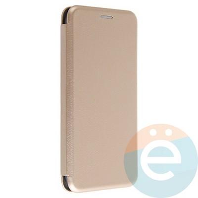 Чехол книжка боковой Fashion Case для Samsung Galaxy A7 2017 золотистый - фото 20121