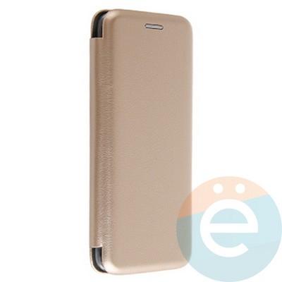 Чехол книжка боковой Fashion Case для Samsung Galaxy S8 золотистый - фото 20127