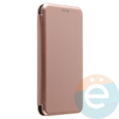 Чехол книжка боковой Fashion Case для Xiaomi Redmi Note 9S/9 Pro розово-золотистый - фото 38008