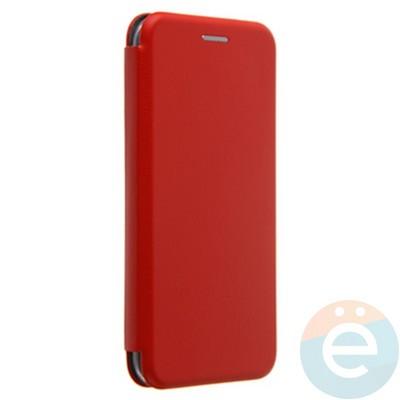 Чехол книжка боковой с силиконовой окантовкой для iPhone Xs красный - фото 20359
