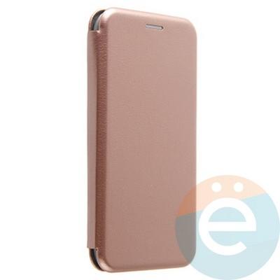 Чехол книжка боковой Fashion Case для iPhone Xr розово-золотистый - фото 20377
