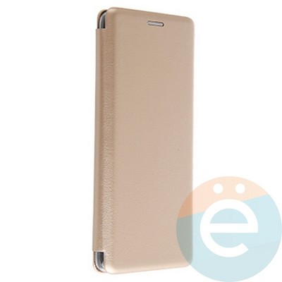 Чехол книжка боковой Fashion Case для Samsung Galaxy A9 2018 золотистый - фото 20661