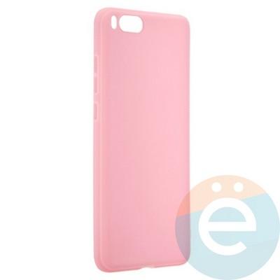 Накладка силиконовая Soft Touch ультратонкая для Xiaomi Mi Note 3 розовая - фото 20683