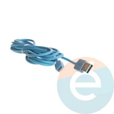 USB кабель Remax RC-006i на Lightning 2м синий - фото 5650