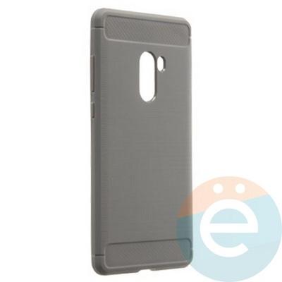 Накладка силиконовая Carbon 360 на Xiaomi Mi Mix 2 серая - фото 21715