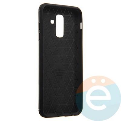Накладка силиконовая Carbon 360 на Samsung J8 2018 чёрная - фото 21739