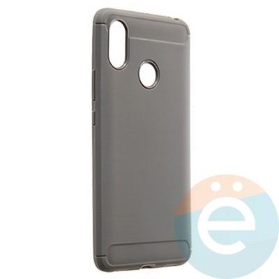 Накладка силиконовая Carbon 360 на Xiaomi Mi Max 3 серая - фото 21744