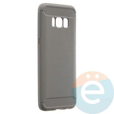 Накладка силиконовая Carbon 360 на Samsung S8 серая - фото 21789
