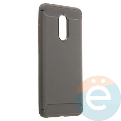 Накладка силиконовая Carbon 360 на Xiaomi Redmi 5 серая - фото 22083