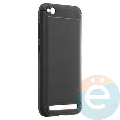 Накладка силиконовая Carbon 360 на Xiaomi Redmi 5A чёрная - фото 22113