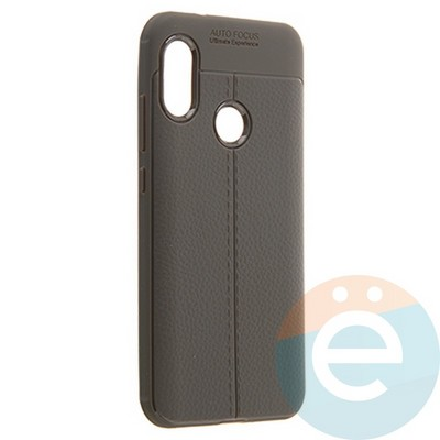 Накладка силиконовая 360 с кожаными вставками на Xiaomi Mi A2 Lite серая - фото 22209