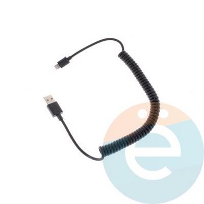 USB кабель Belkin на Lightning пружина чёрный - фото 4506