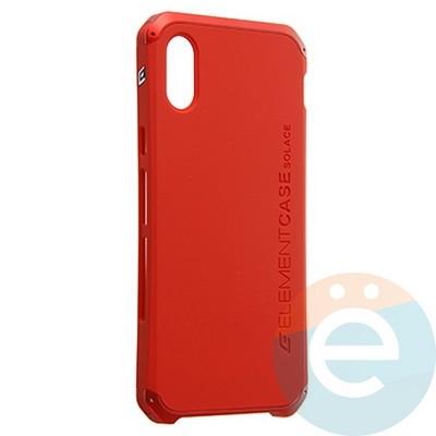 Накладка противоударная Element Case на Apple iPhone X красная - фото 23115