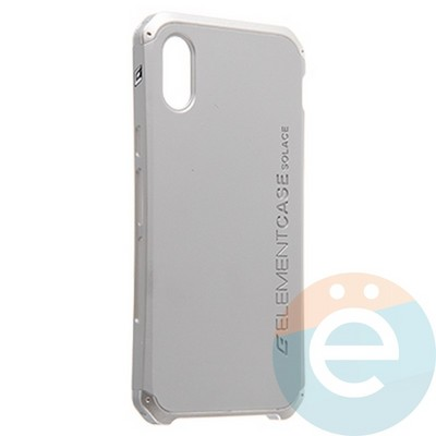 Накладка противоударная Element Case на Apple iPhone X серебристая - фото 23117