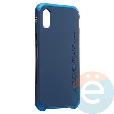 Накладка противоударная Element Case на Apple iPhone X синяя - фото 23128