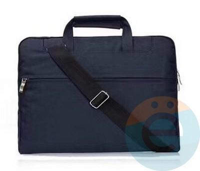 Сумка для ноутбука (13 Дюймов) тканевая с ручками синяя - фото 23581