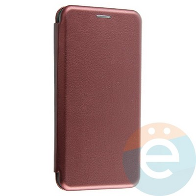 Чехол книжка боковой Fashion Case для Xiaomi Redmi 5 бордовый - фото 28869