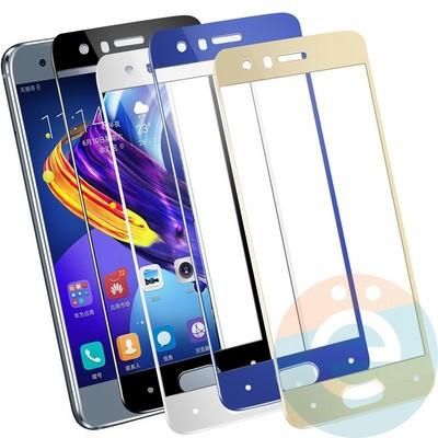 Защитное стекло 2D полноэкранное на Huawei P10 чёрное - фото 23826