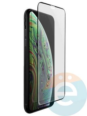 Защитное стекло 5D с полной проклейкой на Apple iPhone X чёрное - фото 24837