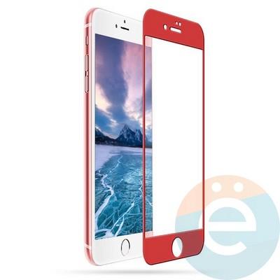 Защитное стекло 5D с полной проклейкой на Apple iPhone 7/8 Plus красное - фото 24820