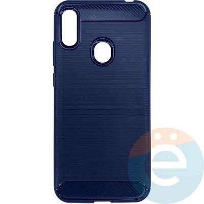 Накладка силиконовая Сarbon 360 на Huawei Y6 2019/Honor 8A синяя - фото 26322