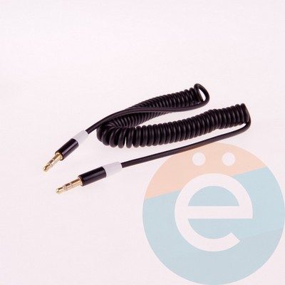 AUX кабель Trim E68 папа-папа 3.5мм пружина металлические цветные - фото 5982