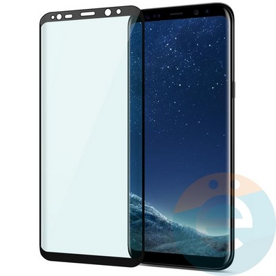 Защитное стекло 2D полноэкранное (с закруглёнными краями) на Samsung Galaxy S10 Plus прозрачное - фото 34841