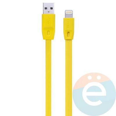 USB кабель Remax Full Speed RC-001i на Lightning 1.5м жёлтый - фото 27091