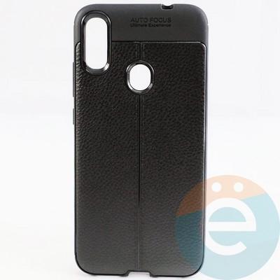 Накладка силиконовая 360 с кожаными вставками на Xiaomi Redmi Note 7 чёрная - фото 29380
