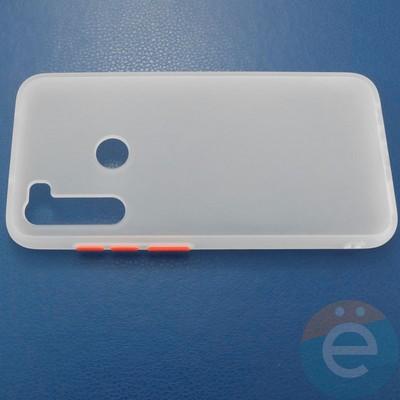 Накладка пластиковая матовая с силиконовой окантовкой для Xiaomi Redmi Note 8 белая - фото 30701